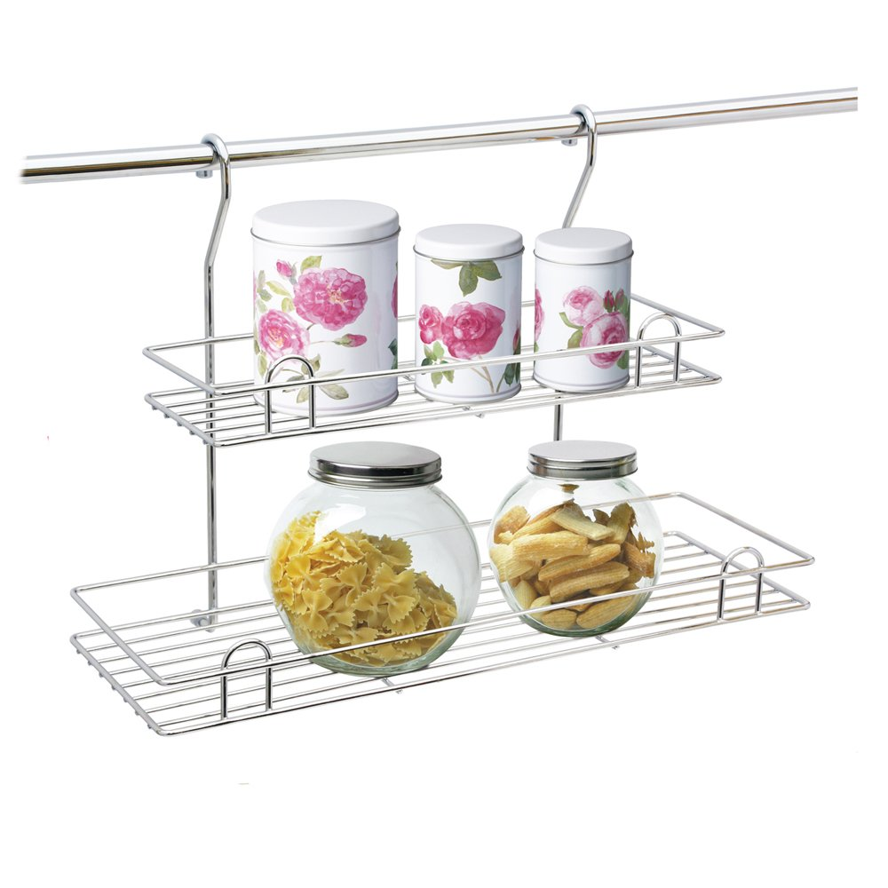 Kitchen Chromed Hanging Wire Spices Rack50.jpg