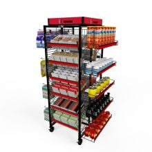 Quick Quad Candy Rack Metal Rack with Caster Wheels