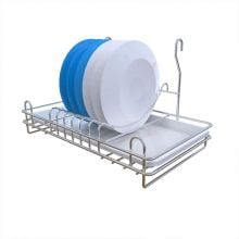Wall-mounted  Stainless Steel Kitchen Dish Drying Rack Holder