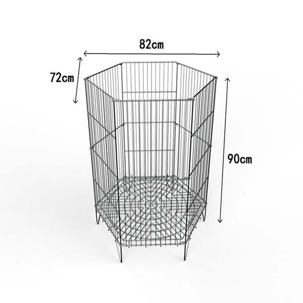 Foldable Wire Promotion Cage For Dolls And Balls Display Or Promotion